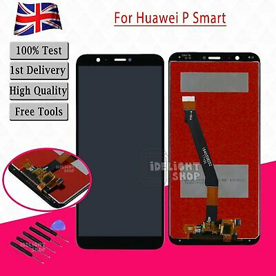 For Huawei P Smart FIG-LX1 Black LCD Touch Screen Digitizer Assembly Replacement