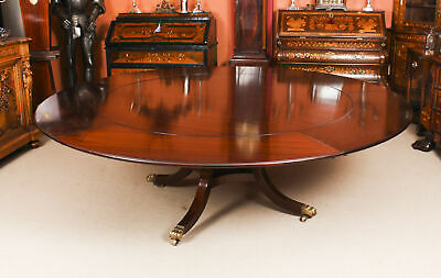 "Vintage 7ft 4"" Diam Jupe Mahogany Dining Table by William Tillman  20th C"