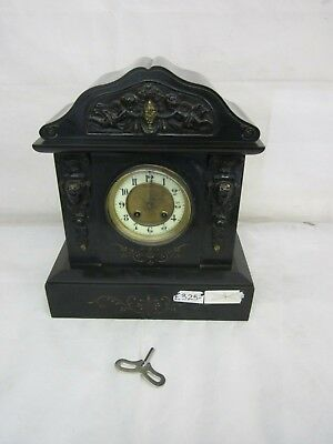 Large Antique 19th Century Slate/Marble Mantel Clock - 15kg