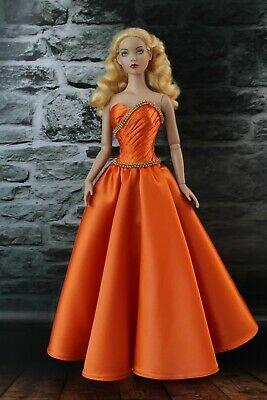 Handmade gown dress outfit for Tonner Tyler doll. Clothes for Sydney Tonner doll