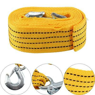 4M Heavy Duty 3 Tons Car Tow Cable Emergency Trailer Pull Rope Strap Recovery