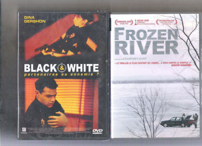 Lot 2 DVD  neuf Black and White  (Gina Gershon) Frozen river quasi  neufs!