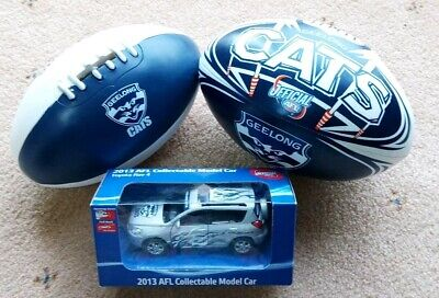 Geelong Cats Official Afl Model Car,mini Soft Football And Money Box Gift Pack!!