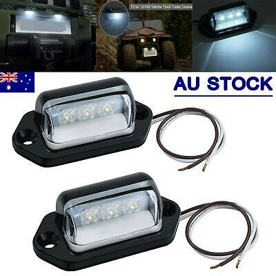2x LED License Number Plate Light Tail Rear Lamp For Truck Trailer Lorry 12/24V