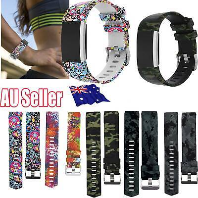 Sports For Fitbit Charge 2/HR Replacement Smart Watch Strap Bracelet Wrist Band