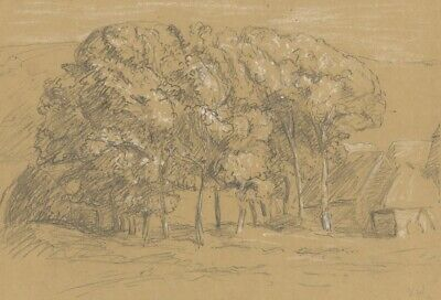 Vernon Wethered, Farmhouse, Seaford, Sussex -Early 20th-century graphite drawing