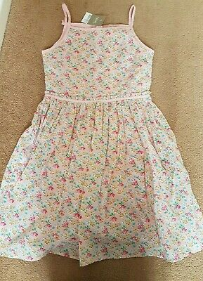 Girl's Next Pink Floral Dress 10-11 Years Bnwt