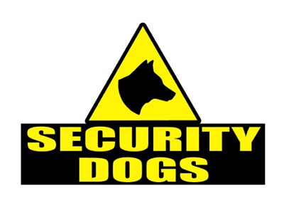 SECURITY DOGS Magnet Head K9 Unit DOG SECURITY SIA PATROL Magnets  200mm x2