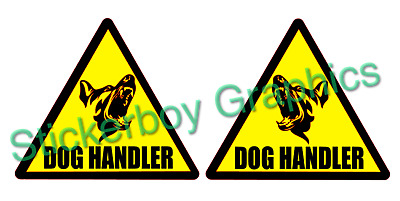 DOG HANDLER Magnet Magnets SECURITY Head K9 Unit SIA PATROL 220mm x 2