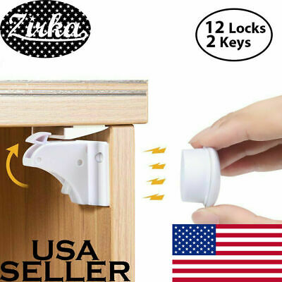 New Magnet Child Locks 2 Locks 1 Keys Cabinet Baby Safety Invisible Kids Proof