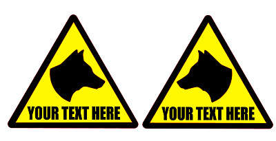 DOG Head Magnets Magnet K9 Unit SIA DOG SECURITY your text Custom 140mm x 2