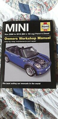 Mini Clubman Petrol /& Diesel Nov 2006-2013 Haynes Manual 4904 NEW