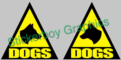 DOG Magnet Magnets  K9 Unit DOG HANDLER SIA PATROL 300mm x 2