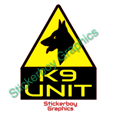 K9 UNIT Magnet Magnetic Head K9 Unit dog Handler SECURITY SIA PATROL Warning
