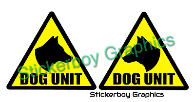 DOG UNIT Magnet Magnetic K9 Unit DOG SECURITY SIA PATROL 140mm x 2