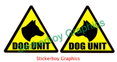 DOG UNIT Magnet magnetic Sign K9 Unit DOG SECURITY SIA PATROL 250mm x 2