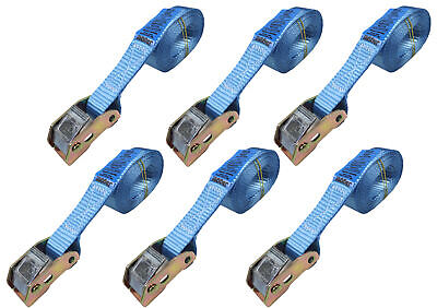 6x 2.5 metre Strong Endless Cam Buckle Tie Down - 25mm Web Strap