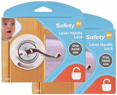 2 Pack Safety 1st French Door Lever Handle Baby Proof Child Locks - 72304-2
