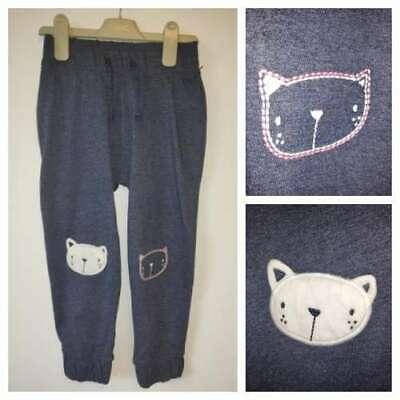 Next Joggers Girls Age 5-6 Years Cat Panda Blue Trousers Bottoms BNWT