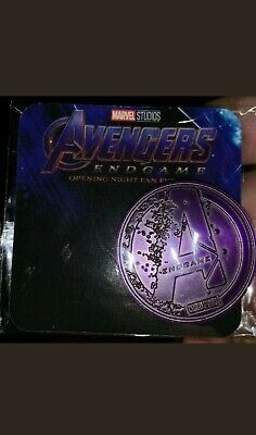 Avengers Endgame Coin Fan Night Collectible rare!!! Purple Coin SEALED BRAND NEW