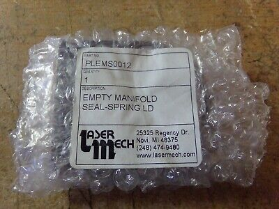 NEW Laser Mech PLEMS0012 Empty Manifold Seal – Spring-Loaded Cincinnati
