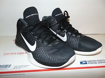 efc99cdd4ff1 NIKE ZOOM ASCENTION 832234-001 BLACK WHITE Men s Basketball Shoes Size 8.5  Great