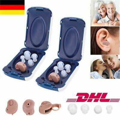 2X Mini Digital Hörgerät Einstellbare Sound Amplifier Hearing Aid Verstärker DE