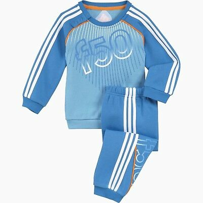 Adidas IJ F50 Outfit Suit Jacket Pant Soccer Youth Kids F49633 Blue (3T)