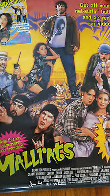 Vintage 1990s MALLRATS Movie Poster Smith, Stan & Jason Lee, CULT CLASSIC