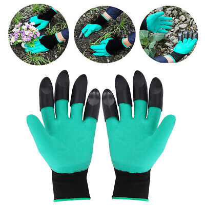 Garden Digging & Planting Work Gloves with 8 ABS Plastic Claws Gardening Tools