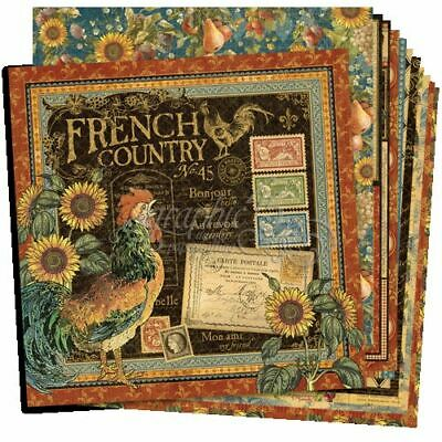 "Graphic 45 ""French Country"" 12X12 Paper (12 Sheets-Complete Set) Scrapjack's Pl"