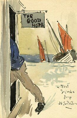 Neville Sotheby Pitcher RSMA, Good Hope Inn - Early c20th watercolour painting