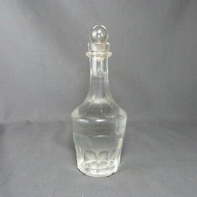 French Antique Vintage Crystal CARAFE DECANTER with Stopper Massive Blown Glass