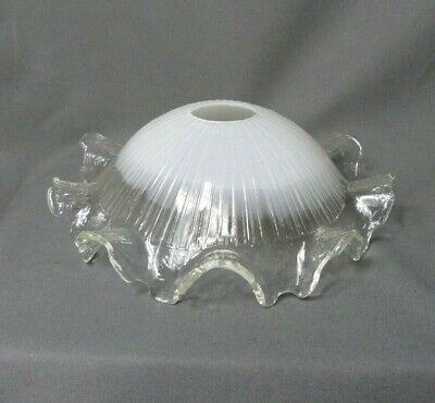 French Vintage Art Nouveau Glass Lamp Ceiling Shade Chandelier Hanging Light
