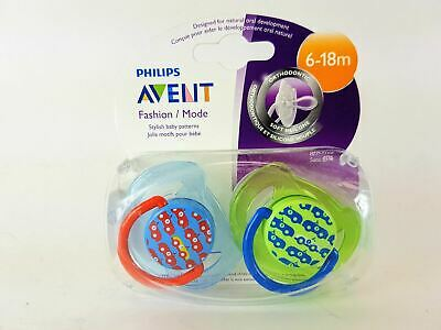 New Philips Avent BPA Free Fashion Car 6-18 Months Pacifier - (2 Pack)