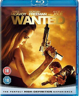 Wanted (Blu-ray, 2008) SEALED SENT 1ST CLASS POST (IN UK)