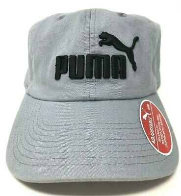huge selection of 8799d 26e1f Puma Logo Unisex Baseball Cap One Size Gray Relaxed Fit Custom Metal  Adjuster