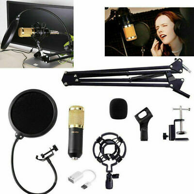 BM-800 Condenser Microphone Kit Home Studio Record+Scissor Arm Stand Shock Mount