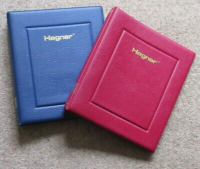 2 x Luxury Padded Hagner Stamp Albums (used) Empty