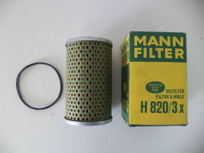Mann H820/3X Replaceable Oil Filter Ford 592E,Bm Volvo,Massey-Ferguson,Perkins