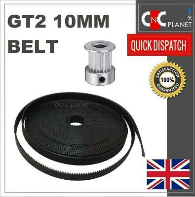 GT2 10mm Belt Width Open Length 2mm Pitch for Timing Pulley CNC 3d Printer UK