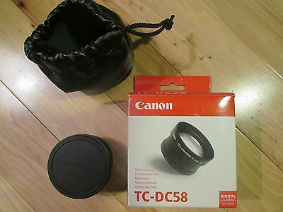 Canon TC-DC58 Tele-Coverter Lens 1.5x Digital Camera Accessory Very Good Cond!!!