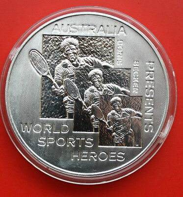 Australien: 1991 Silber- Medaille,1 Oz, World Sports Heroes, B.Becker #F 0418,PP