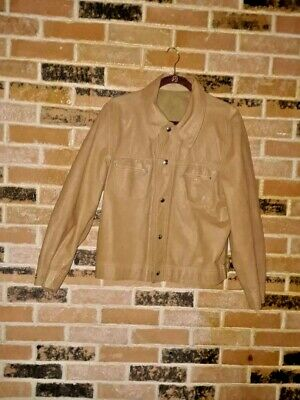 ebda73044 VINTAGE SUEDE LEATHER Jacket Brown The Leather Store Men's 44 Tall ...