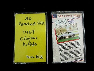 Greatest Hits 1967, Greatest Hits 1968 by ORIGINAL ARTISTS Lot of 2 (EX) C17