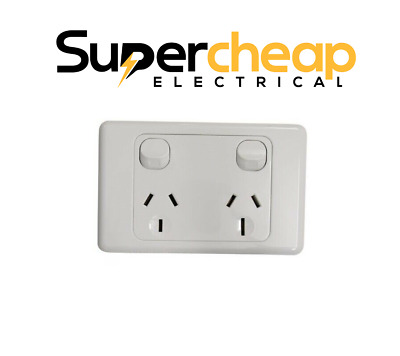 15 Amp Double Power Point Socket GPO 240V 15A Electrical Outlet SAA