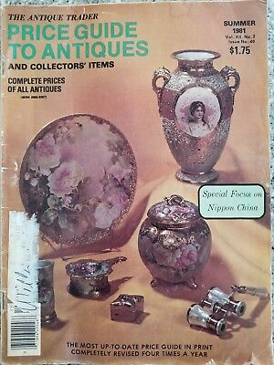 Antique Trader Price Guide To Antiques Magazine Nippon China 1981 RARE
