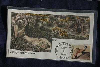Endangered Species Black-Footed Ferret FDC Handpainted Collins#R2601 Sc#3105a