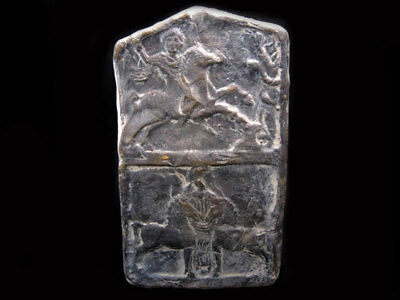BEAUTIFUL GREEK STYLE WALL PLAQUE, THRACIAN HORSEMAN and MOTHER EARTH, REPLICA!!