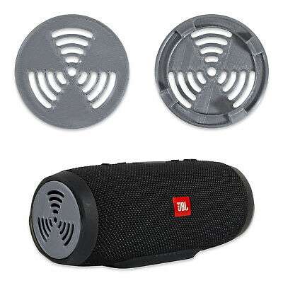 2 Pcs of Speaker Cover / Protector / Grill for JBL Charge 3, Silver, Radioactive